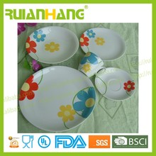 bright color microwave safe porcelain dinnerware for Children