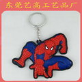 Bulk cheap custom plastic superman batman keychain