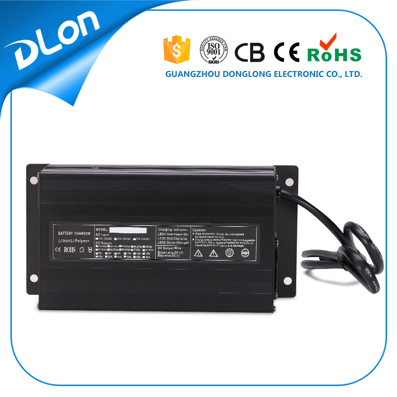 donglong factory 24v 25a 36v 18a 48v 15a 60v 12a 72v 100ah 12v 40a battery charger li-ion/ lead acid/ lifepo4 900w for golf cart