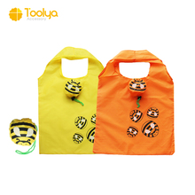 Cheap Cute Animal Foldable Polyester Shopping Bags bee Reusable Bags