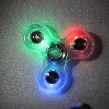 Five colors plastic led hand spinner toys,kids adults fidget spinner