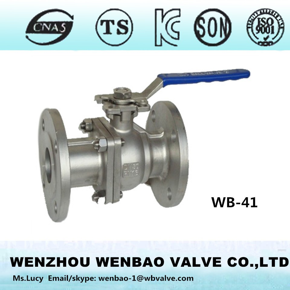 WB-41 Ball valve flanged 2pc /langed 2pc ball valve /flanged ball valve stainless steel