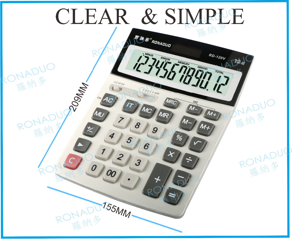 logo print solar panel desktop mini financial calculator