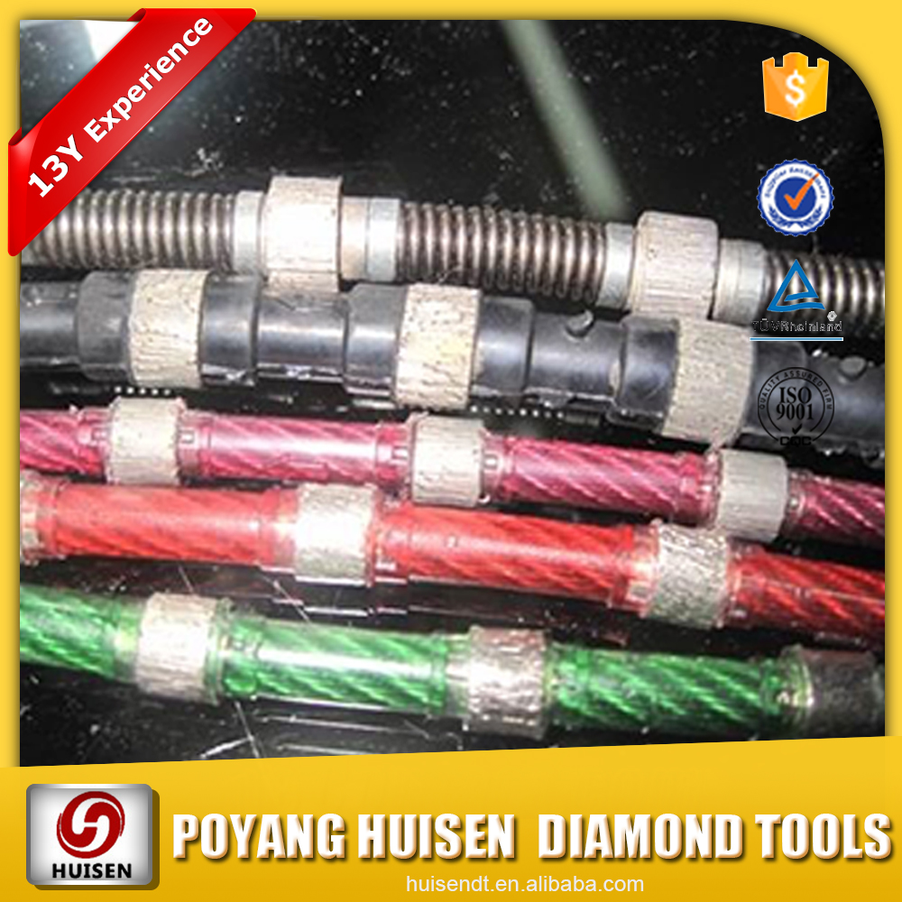 Diamond wire for cutting marble and granite diamond cutting wire saw tools