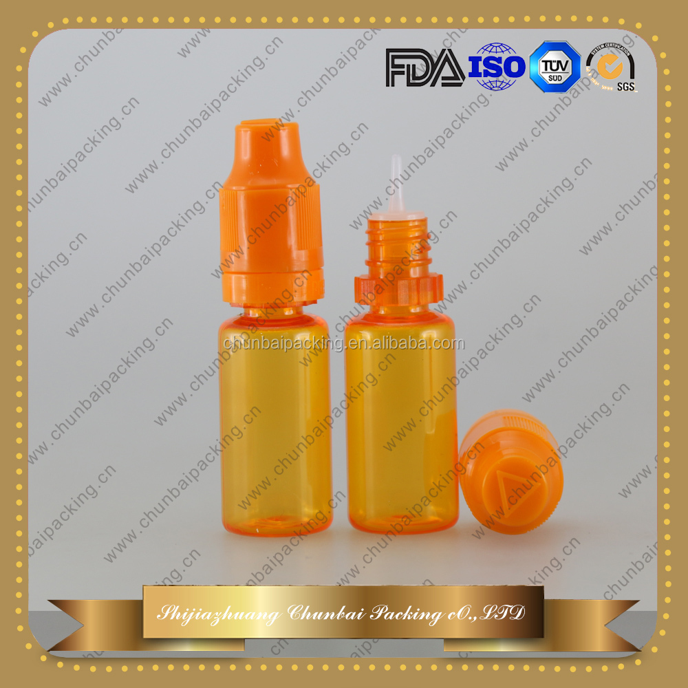 10ml plastic squeeze bottle with blind triangle mark