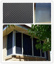 window door security screen/black 316 grade stainless steel security mesh/security window screen