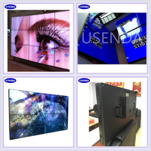Ultra narrow bezel seamless 2x2 video wall 49 55 inch with 4k controller