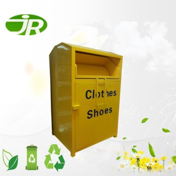 Assembly Yellow steel clothing bin for sale