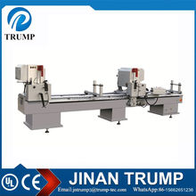Double head outside inside 45 degree aluminum profile cutting machinery