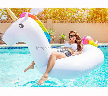 Swimming pool equipment giant inflatable unicorn pool float for adult