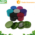 Alibaba express aluminum herb grinder 4 part with 50mm, 55mm and 63mm