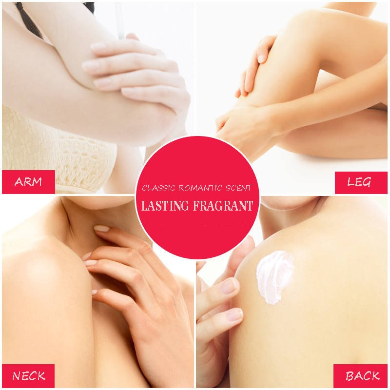 LAIKOU BODY LOTION PERFUME Lasting fragrance 300g Containing rose oil Fresh and cool mild Moisturize skin