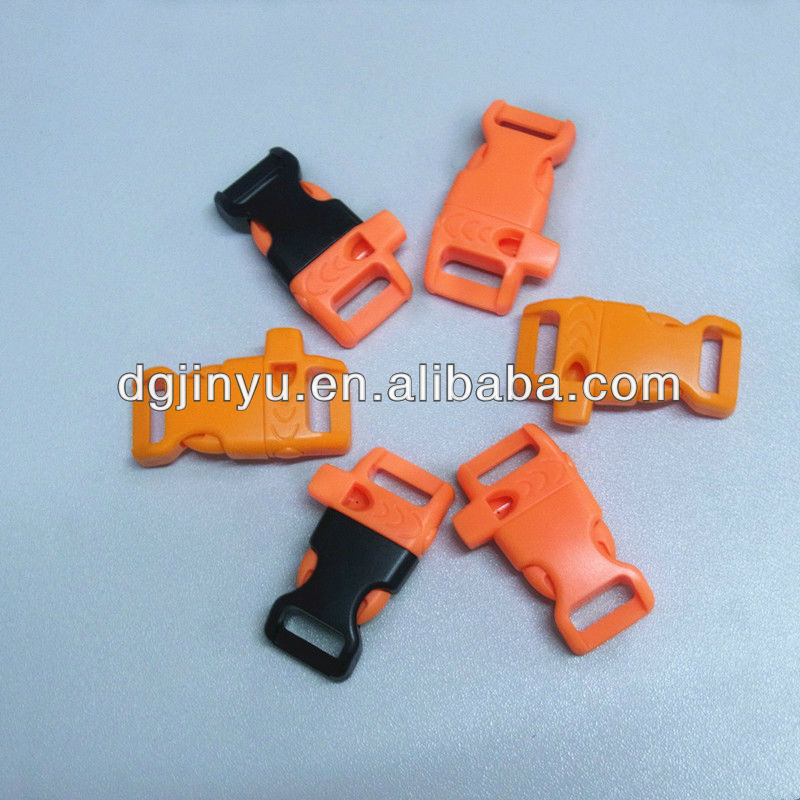 New-moulded 1/2'' Curved Plastic Whistle Side Release Buckle