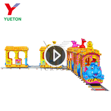 Amusement Christmas Electric Backyard Fiberglass Body Elephant Train Ride For Kids