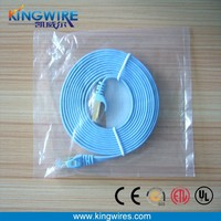 indoor copper flat wire 250MHz 32awg BC nexans cat6 patch cord