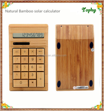 Environmental Solar Power/Energy bamboo wooden Calculator for office gift