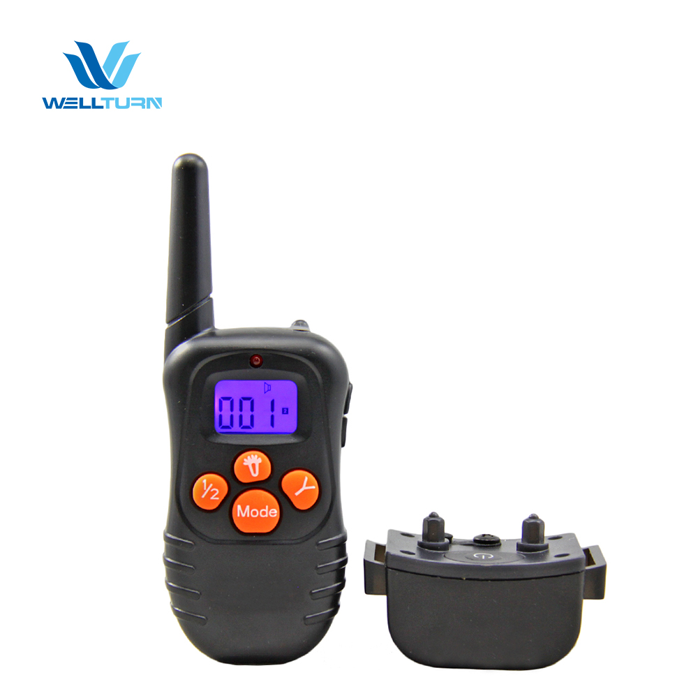 2017 Amazon Most Used Pet Remote Training No Shock Dog Vibrator Collar With Lcd Display Screen