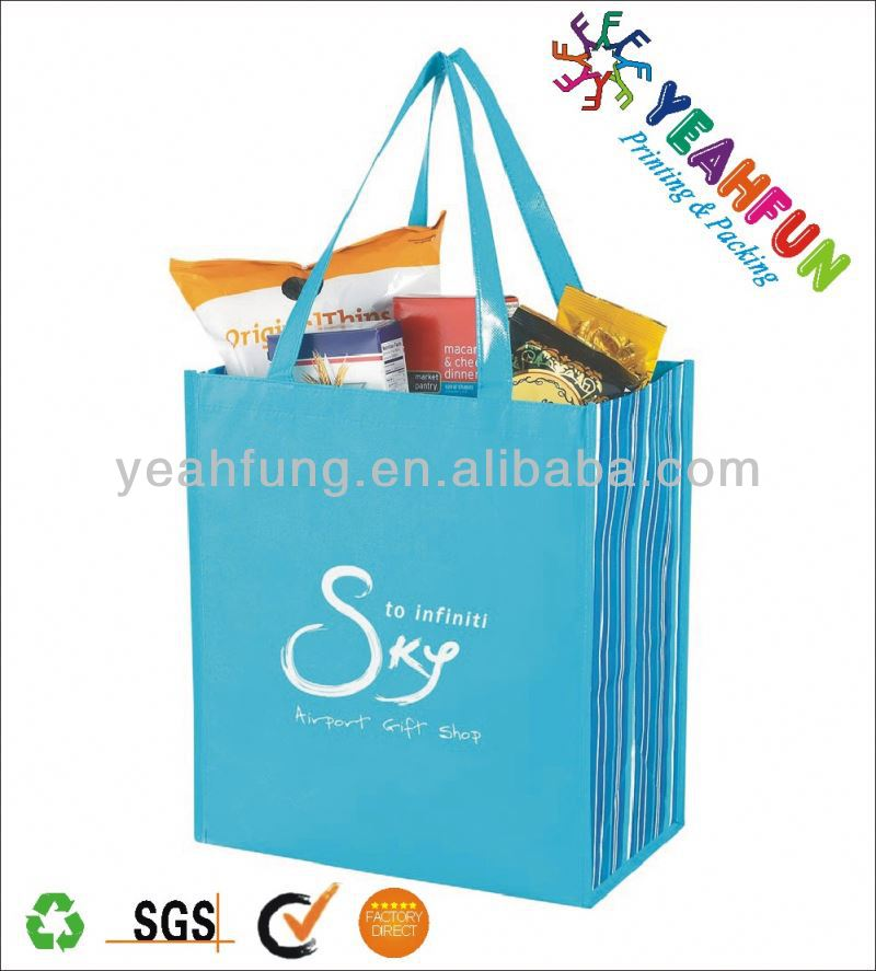 Promotional foldable supermarket shopping bag