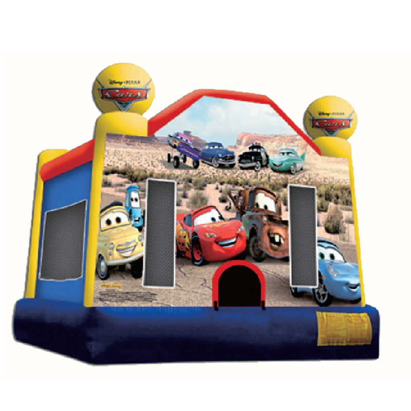 Professional factory cheap car challenge inflatable bouncers jumper castle for kids