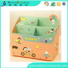 kids desk stationery box cute paper stationery organizer decorative paper storage boxes