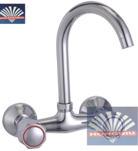 High Quality Zinc Alloy Wall Mounted Gooseneck Sink Mixer Faucets