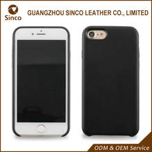 genuine leather cover smart phone case for i7 with wrapped edge