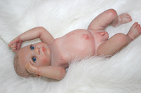 "10"" Handmade full body silicone reborn baby boy doll baby newborn doll for sale"