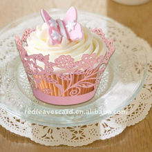 Event party item type party and decoration and wedding decoration laser cupcake wrap/wrapper