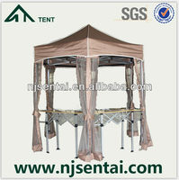 2015 Hot Product fold pavilion waterproof portable canopy steel frame gazebo