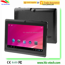 7inch tablet pc 3G android tablet GPS FM GSM WCDMA Quad core 2camera 1024*600 screen android4.4 bluetooth no 4G