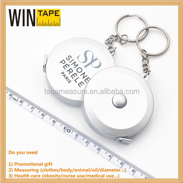 150cm modern silver keyring with tape measure measurement tape buy tools in bulk under dollar items with Your Logo