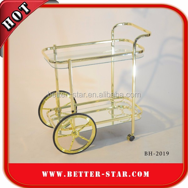 Quality and good price foldable food service trolley tea trolley