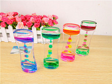 Bubbles Colorful Liquid Filled Hourglass floating color timer