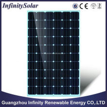 Best quality price per watt monocrystalline cheap pv solar panel price 250w with TUV UL for sale