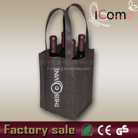 2015 Hot Selling Eco-friendly non woven wine glass carrier bag (ITEM NO:W150438)