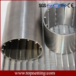 Welded triangle shape wire wrapped filter slot pipe / wedge wire screen / Wedge wire slot pipe