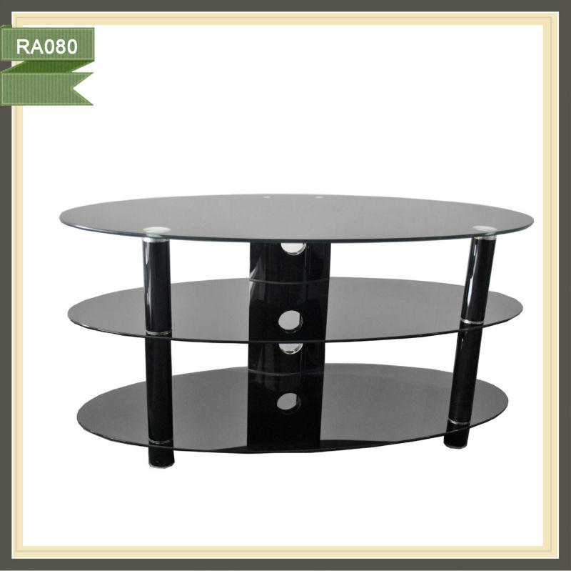 cheap glass lcd tv stand furniture wall units RA080