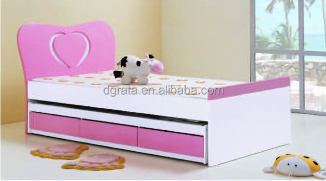 2014 lovely sweet heart girls bunk bed is made by E1 MDF board with environmental paint