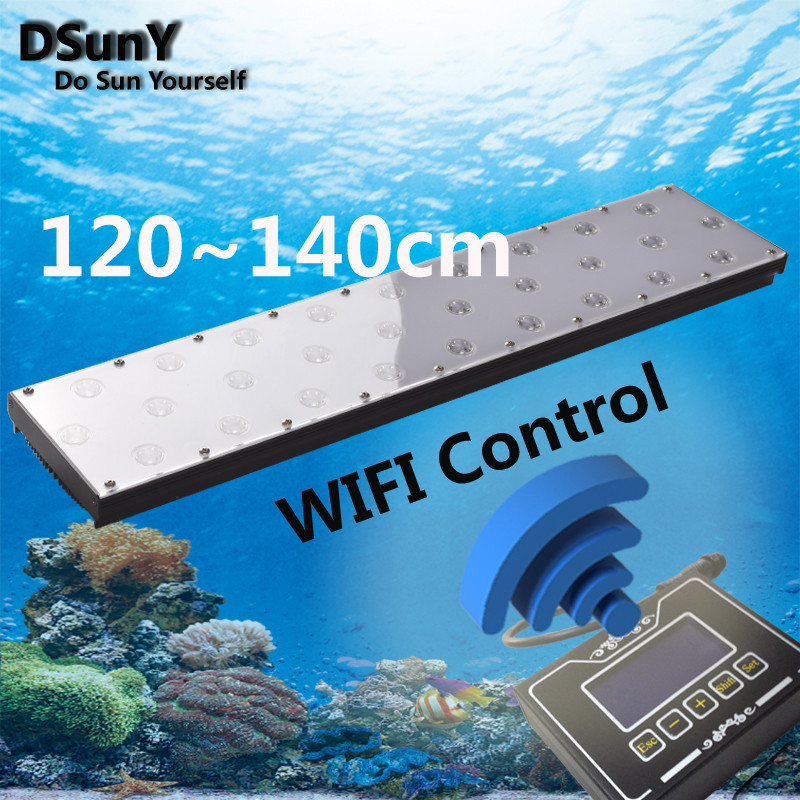 WIFI Controlled Free Shipping Factory Direct Supply 120cm high quality Wholesale 120W Led Aquarium Lights for Coral Reef,Sunrise