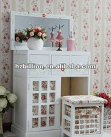 modern dressing table with mirror bedroom furniture in white