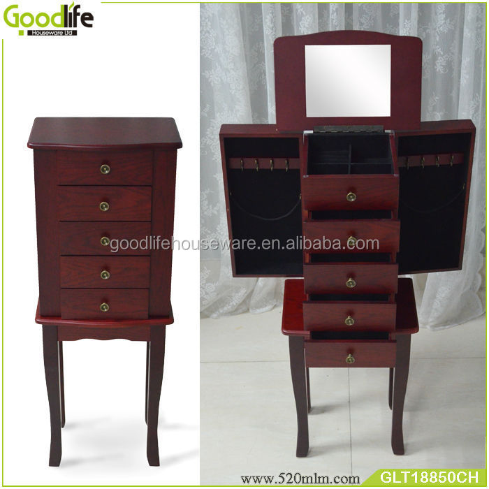 Goodlife 2018cherry color french dressing table with dressing mirror