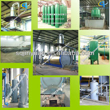 Plant oil, crude oil, waste engine oil to diesel oil distillation plant with smoke scrubber
