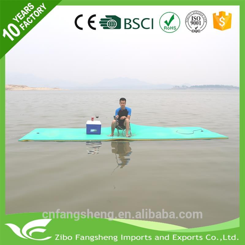 2017 Hot selling water float foldable yoga mat swimming pool floor mat with low price
