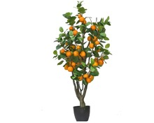 Indoor decoration large artificial fruit apple tree,real touched feeling fake apple tree plant