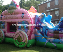 inflatable carriage bounce with frozen princess /inflatable princess carriage bouncer / inflatable carriage bouncer for sale