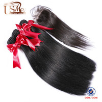 7A Free Shipping brazilian aliexpress hair closure and extensions