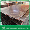 phenolic resin board, brown film faced shuttering plywood used as concrete formwork on construction building project