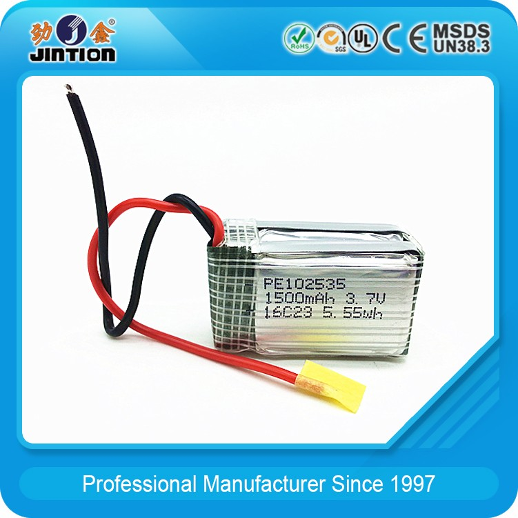 Li-Polymer 102535 1500mAh 3.7v Rechargeable battery