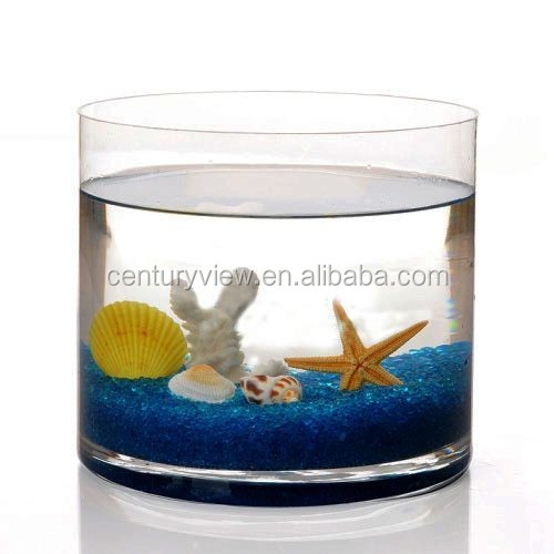 Top sale decorative large clear glass fish bowl wholesale for Fish bowls in bulk