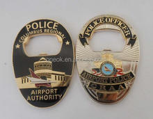 high quality 3D air port police base classic creative design beer bottle opener